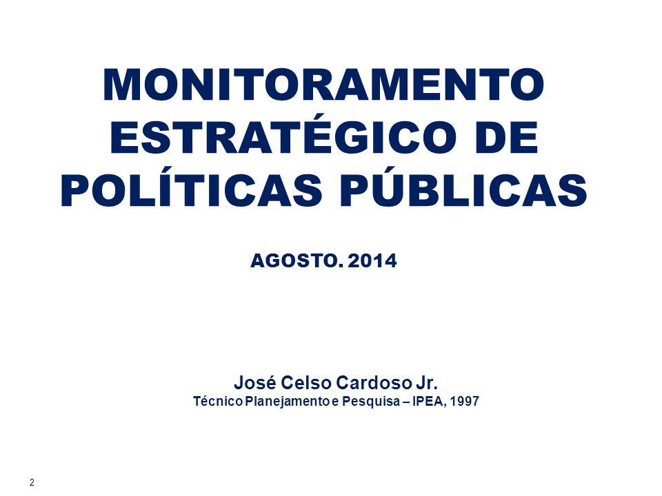 MONITORAMENTO ESTRATÉGICO DE POLÍTICAS PÚBLICAS