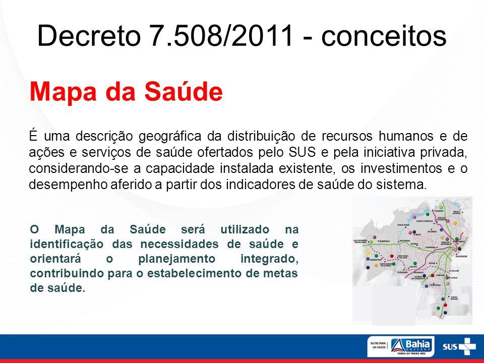 Decreto 7.508/2011 - conceitos Mapa da Saúde
