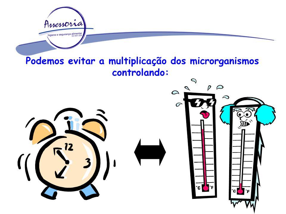 Podemos evitar a multiplicação dos microrganismos controlando: