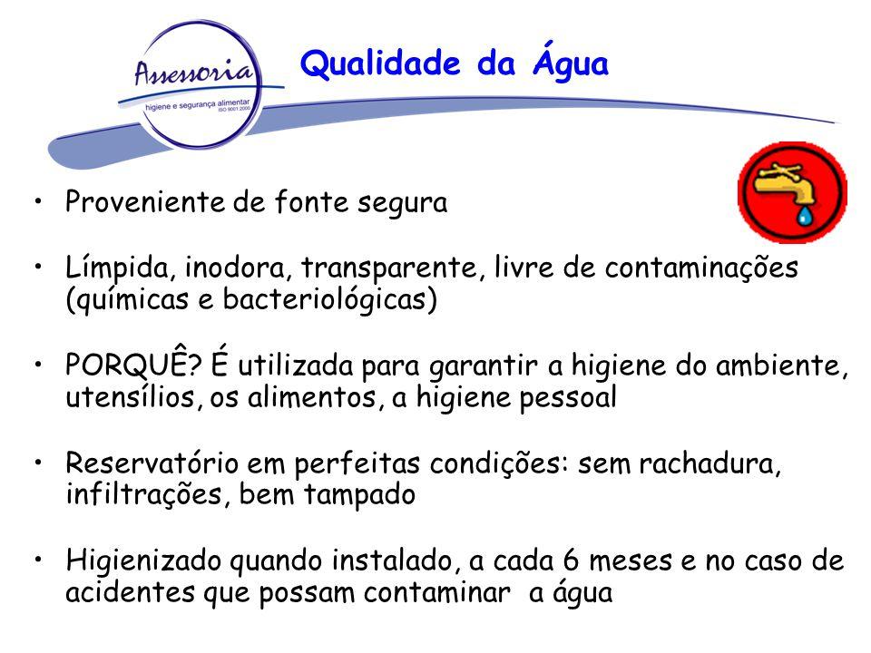 Qualidade da Água Proveniente de fonte segura