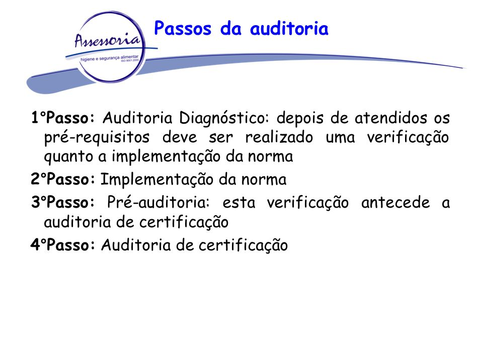 Passos da auditoria