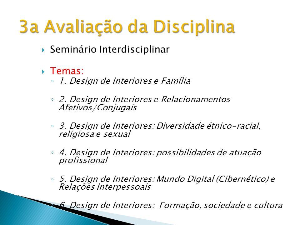 3a Avaliação da Disciplina