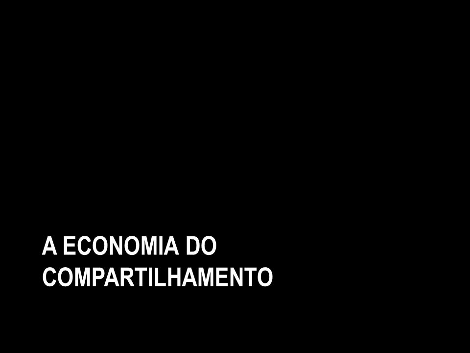 A economia do compartilhamento