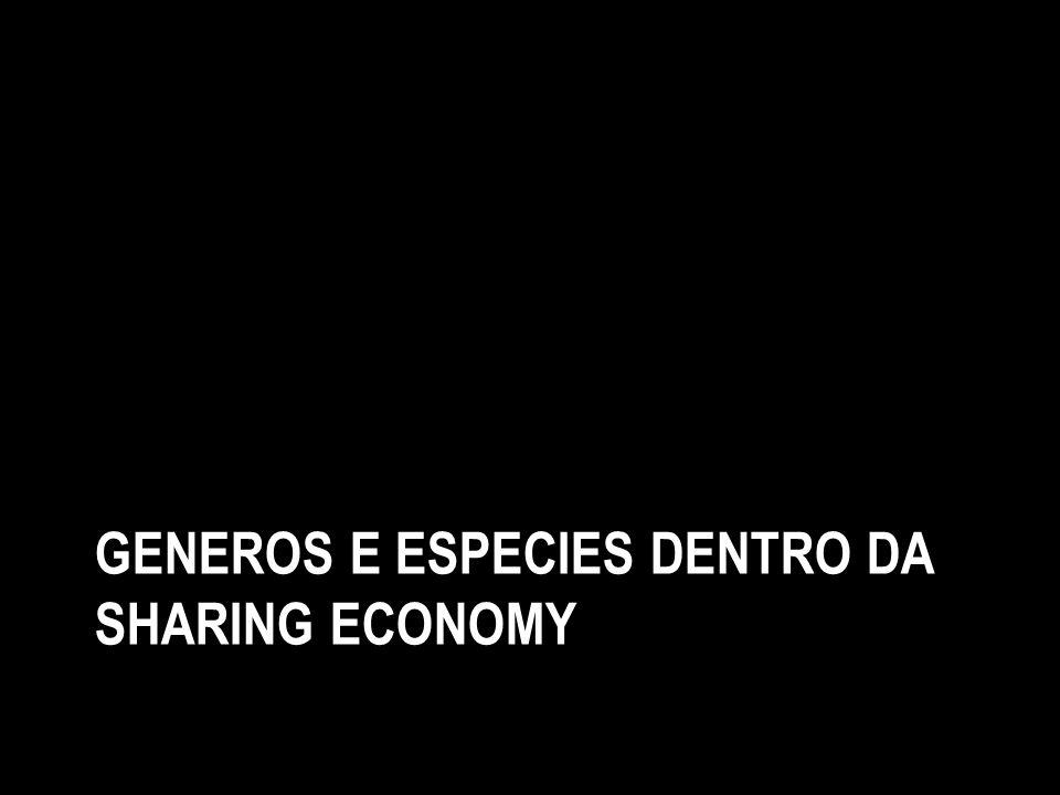 Generos e especies dentro da sharing economy