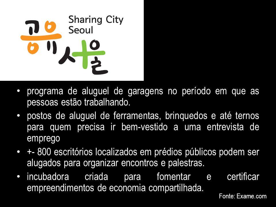 Seul (10 milhões de habitantes) - Sharing City – Cidade Colaborativa