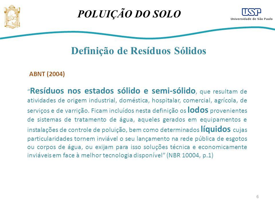 Definição de Resíduos Sólidos