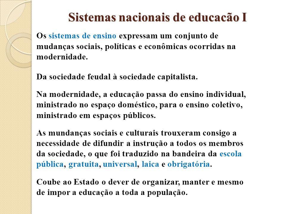 Sistemas nacionais de educacão I