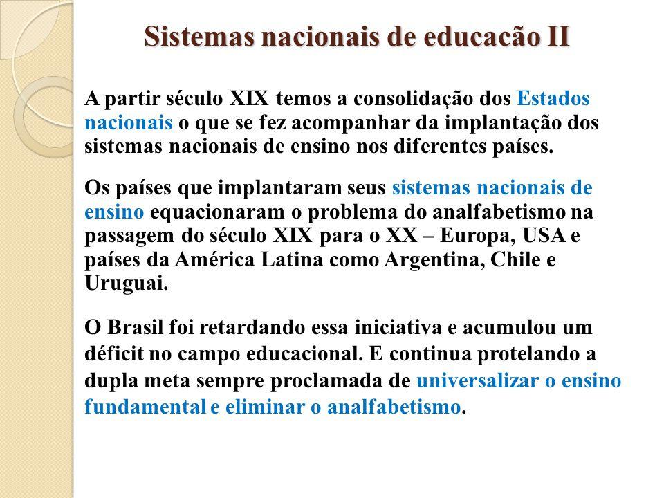 Sistemas nacionais de educacão II