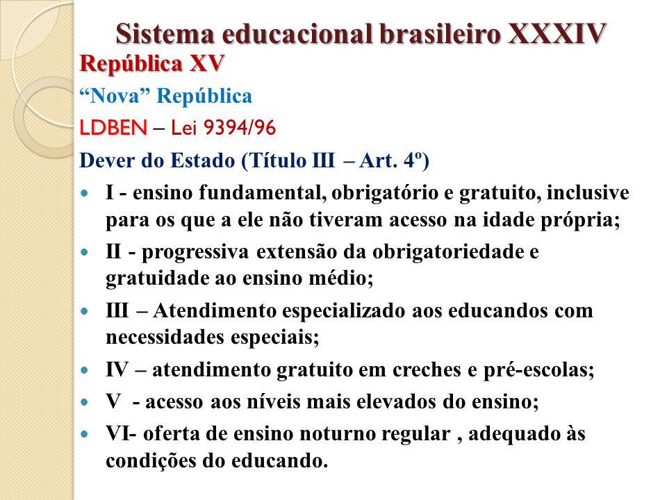 Sistema educacional brasileiro XXXIV