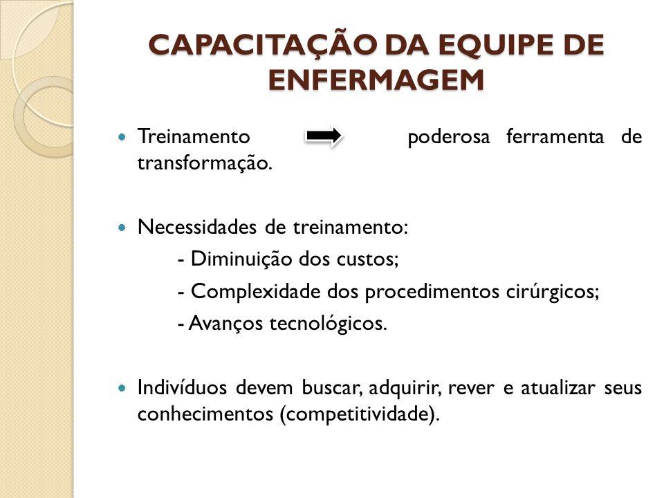 CAPACITAÇÃO DA EQUIPE DE ENFERMAGEM