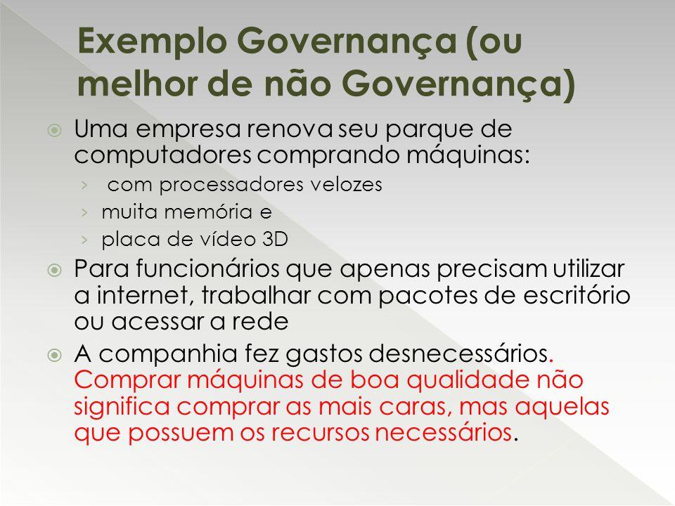 Exemplo Governança (ou melhor de não Governança)