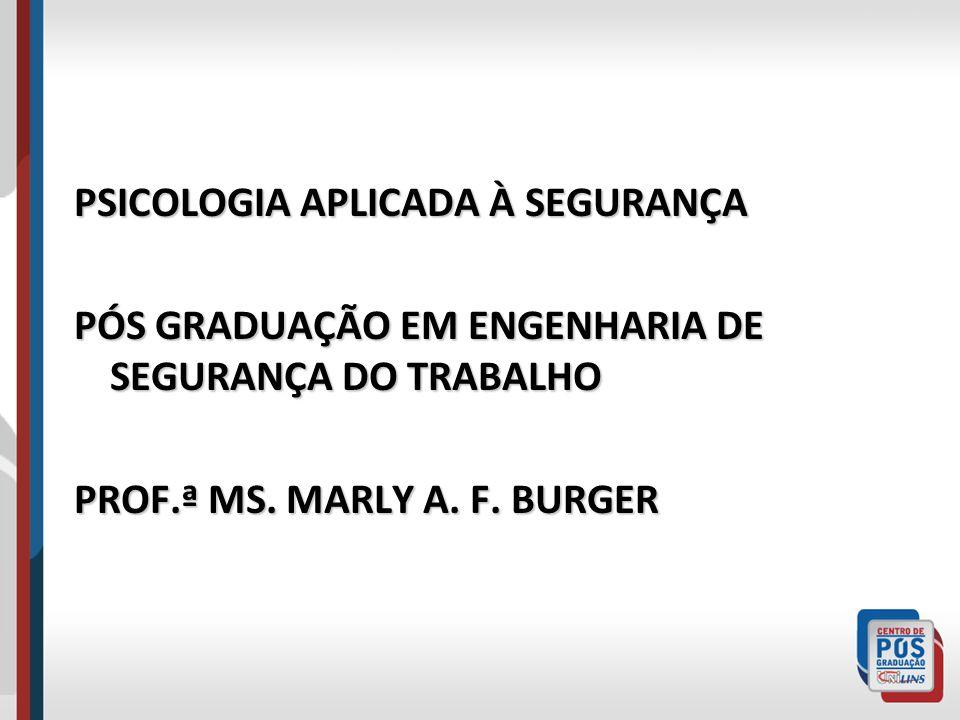 PSICOLOGIA APLICADA À SEGURANÇA