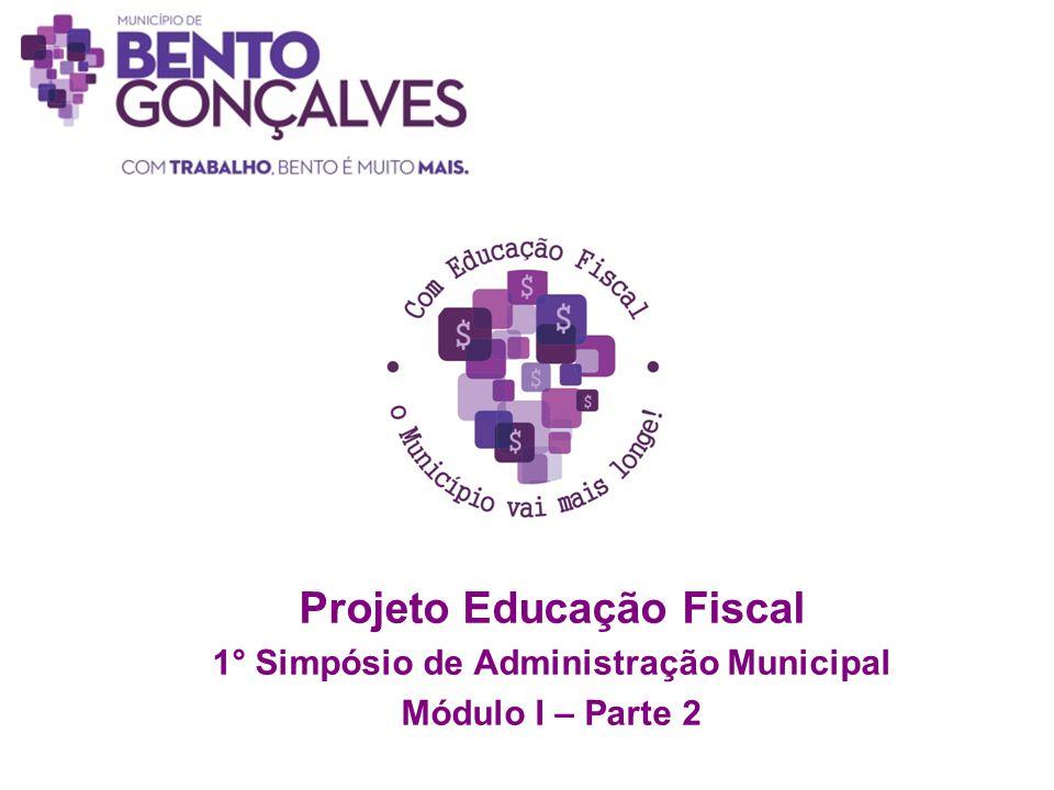Projeto Educação Fiscal 1° Simpósio de Administração Municipal