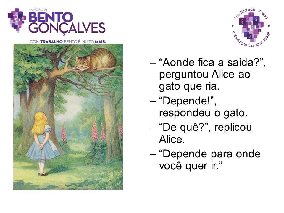Aonde fica a saída , perguntou Alice ao gato que ria.