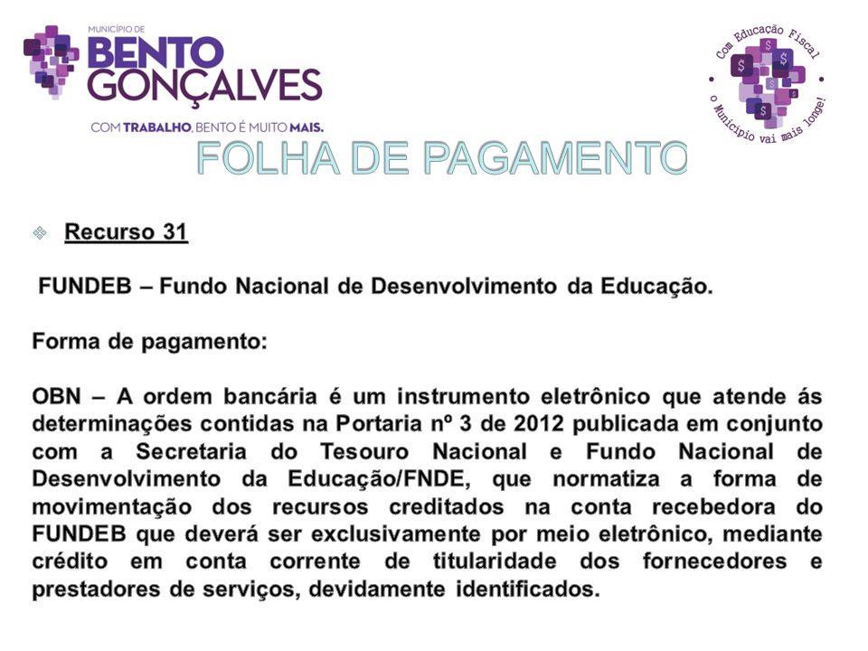 FOLHA DE PAGAMENTO Recurso 31