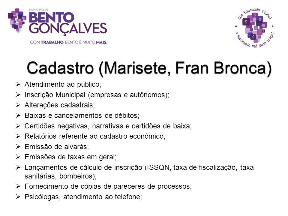 Cadastro (Marisete, Fran Bronca)
