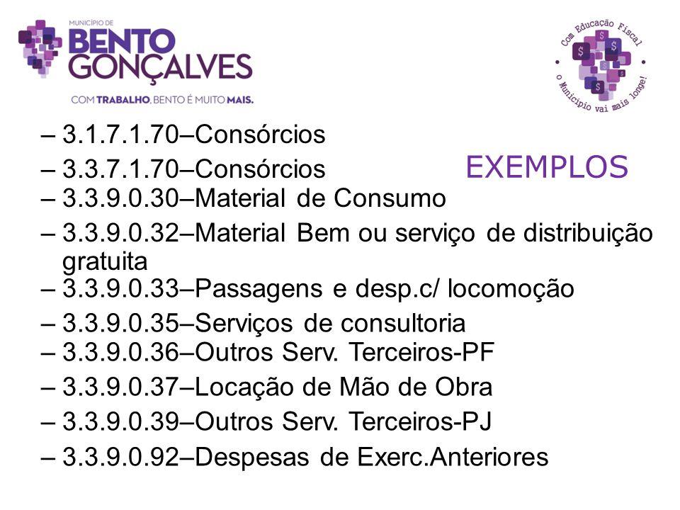 EXEMPLOS 3.1.7.1.70–Consórcios 3.3.7.1.70–Consórcios