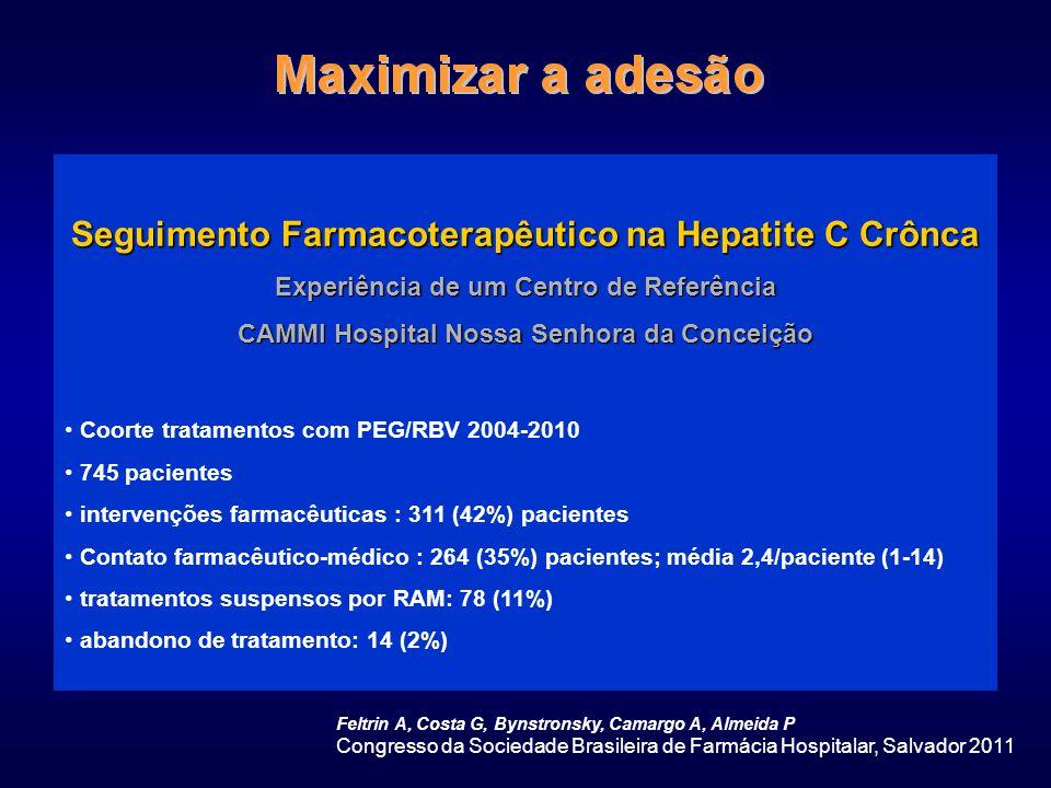Seguimento Farmacoterapêutico na Hepatite C Crônca