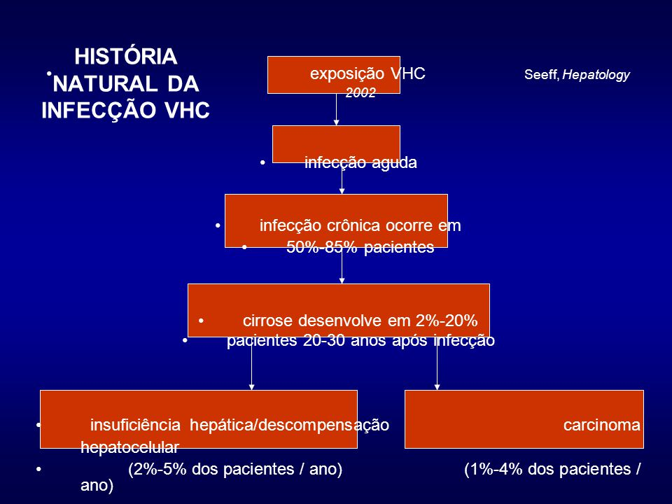 HISTÓRIA NATURAL DA INFECÇÃO VHC