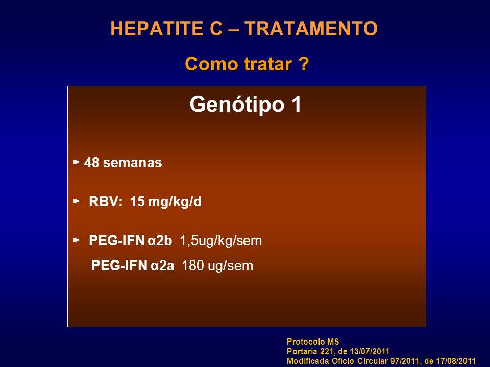 HEPATITE C – TRATAMENTO Como tratar