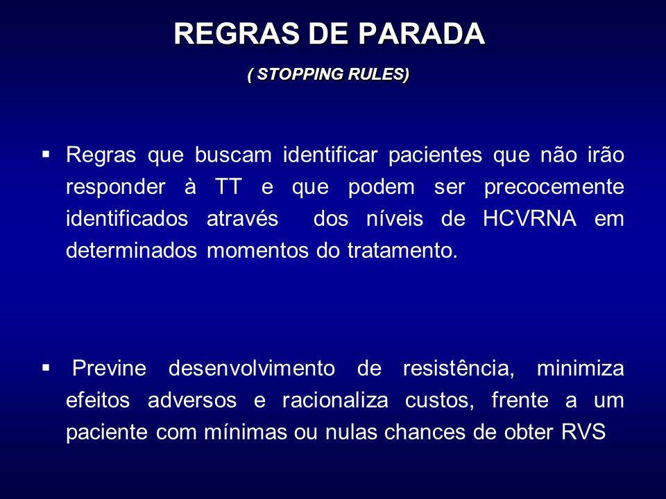 REGRAS DE PARADA ( STOPPING RULES)