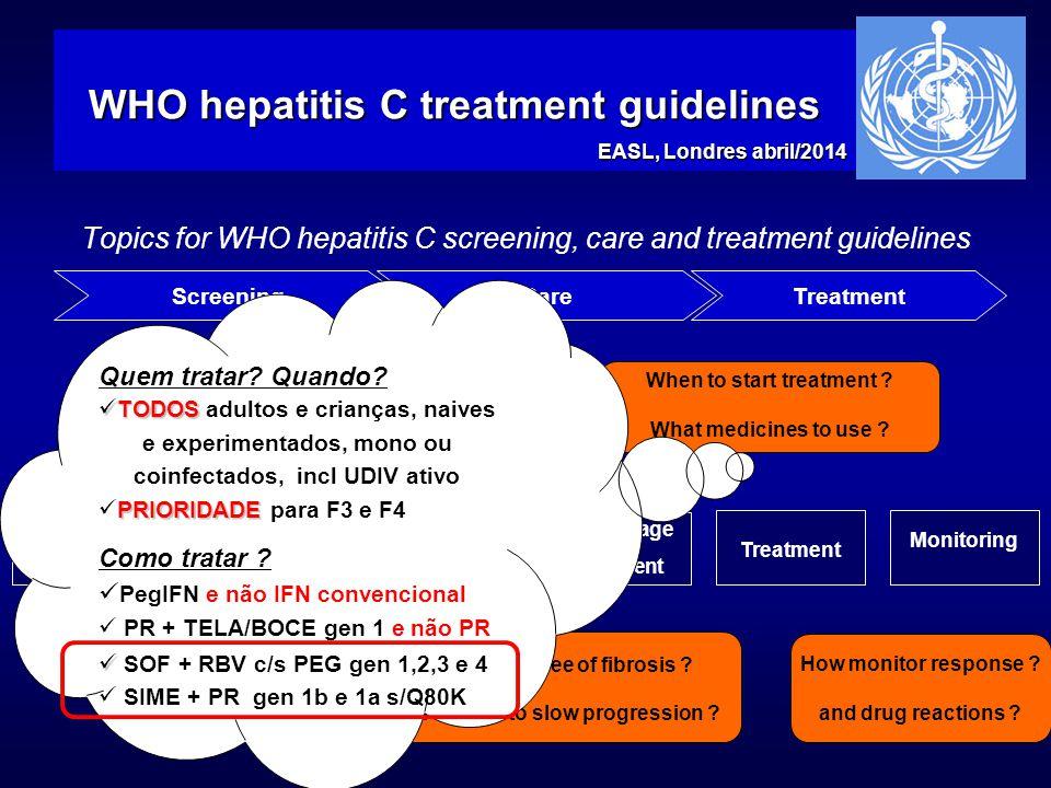 WHO hepatitis C treatment guidelines
