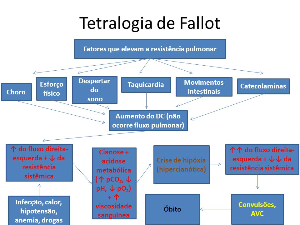 Tetralogia de Fallot Fatores que elevam a resistência pulmonar