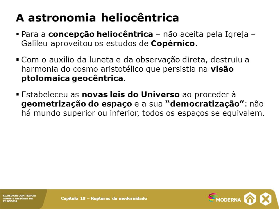 A astronomia heliocêntrica