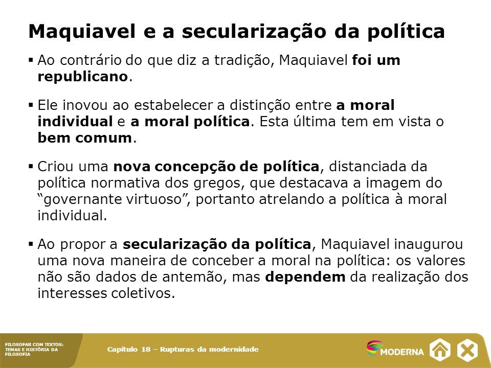 Maquiavel e a secularização da política