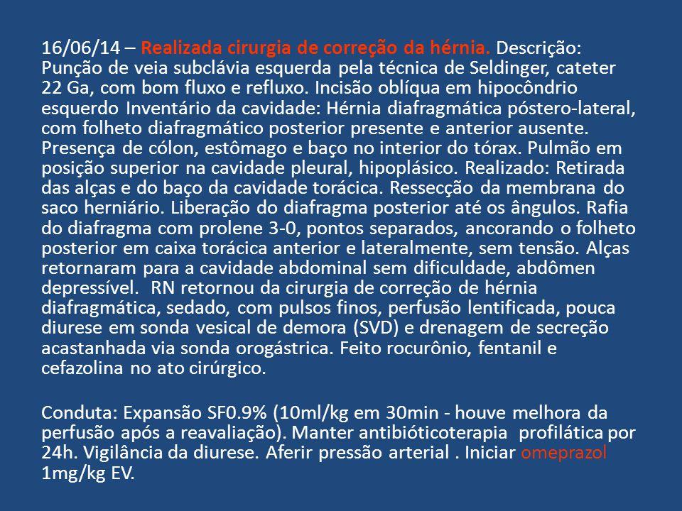 16/06/14 – Realizada cirurgia de correção da hérnia