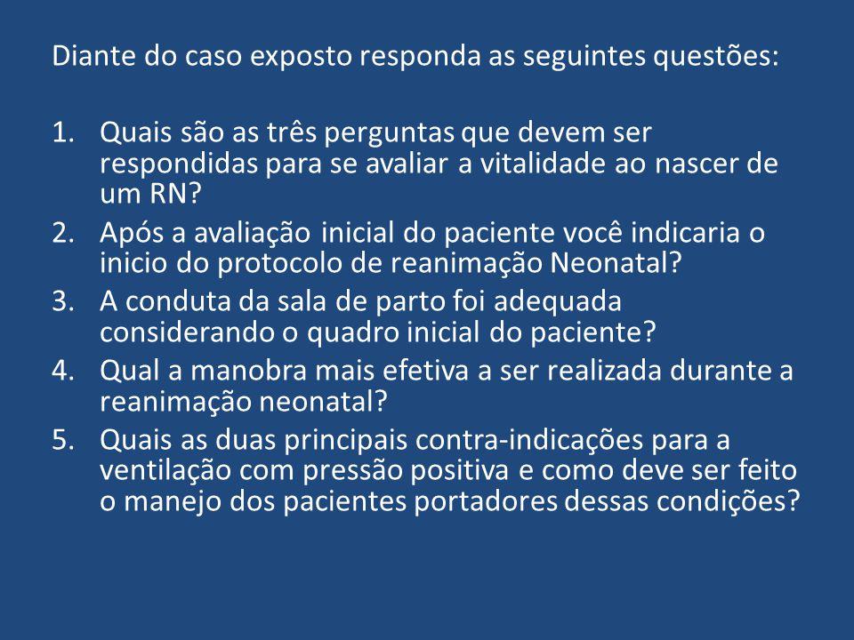 Diante do caso exposto responda as seguintes questões: