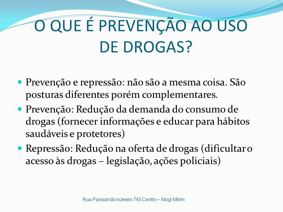 O QUE É PREVENÇÃO AO USO DE DROGAS
