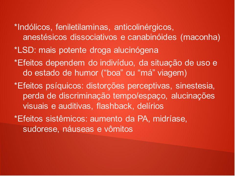 *LSD: mais potente droga alucinógena