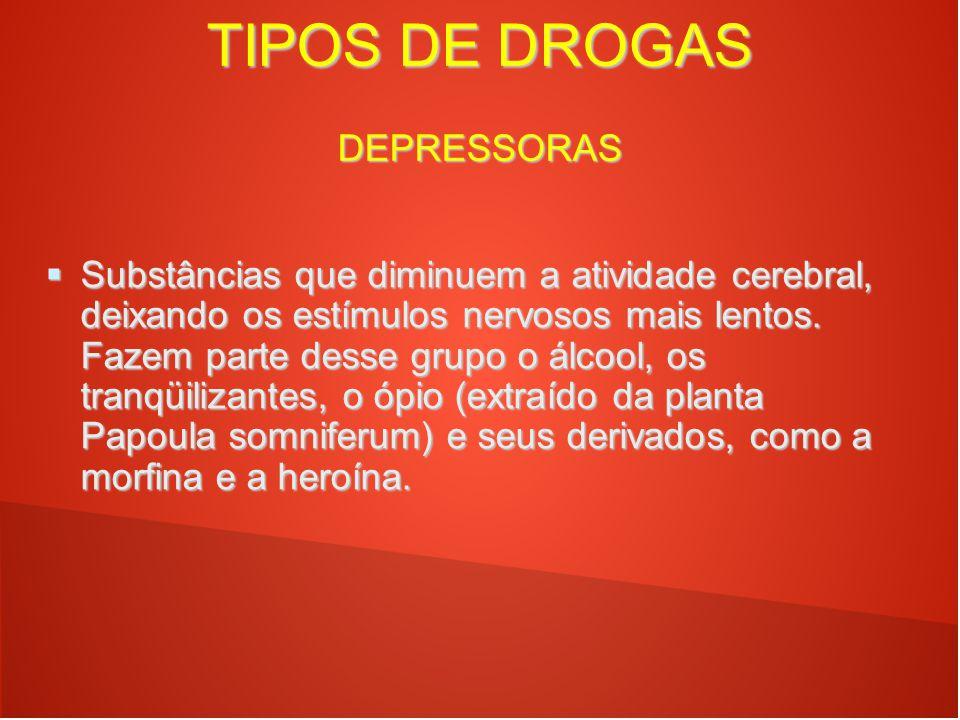 TIPOS DE DROGAS DEPRESSORAS