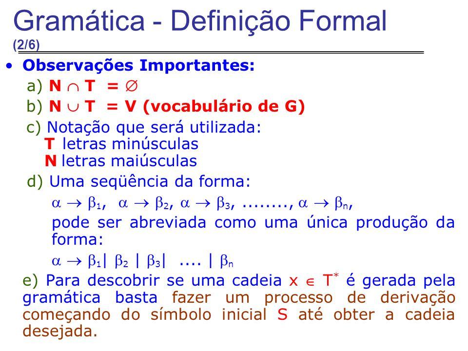 Gramática - Definição Formal (2/6)