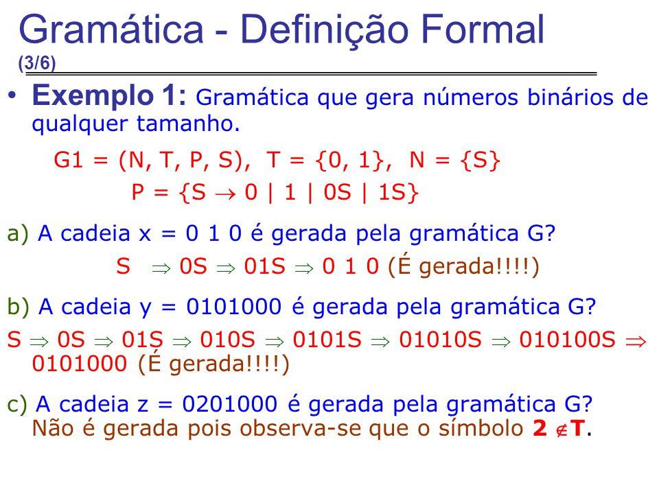 Gramática - Definição Formal (3/6)
