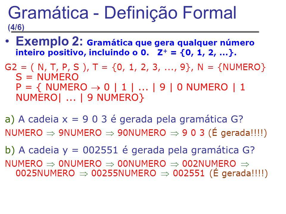 Gramática - Definição Formal (4/6)