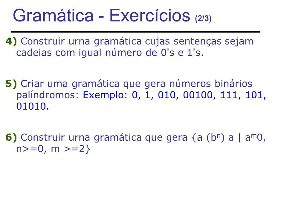 Gramática - Exercícios (2/3)
