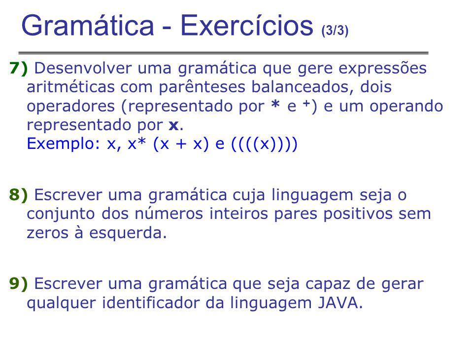 Gramática - Exercícios (3/3)