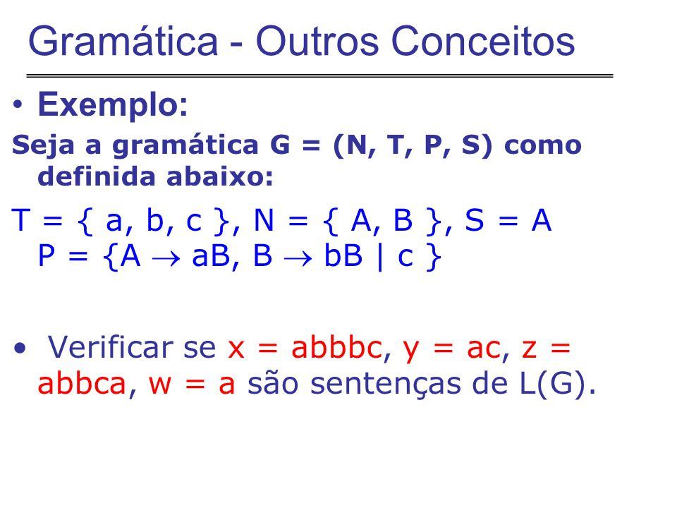 Gramática - Outros Conceitos