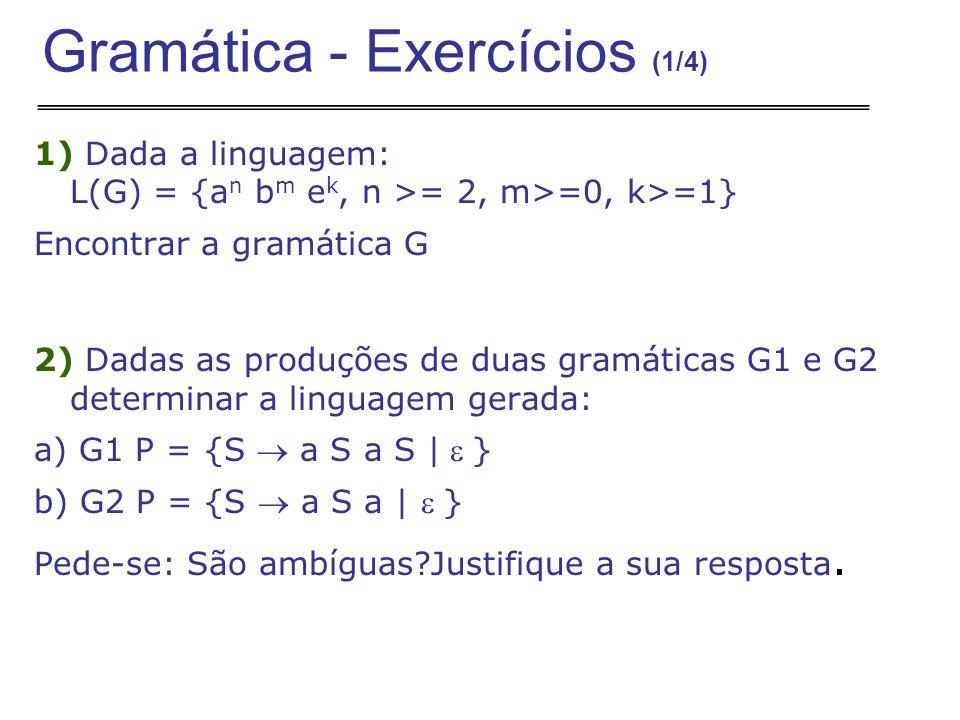Gramática - Exercícios (1/4)