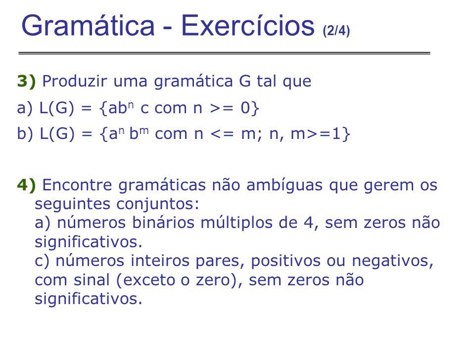 Gramática - Exercícios (2/4)