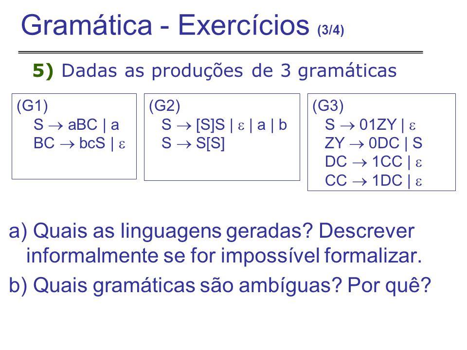 Gramática - Exercícios (3/4)