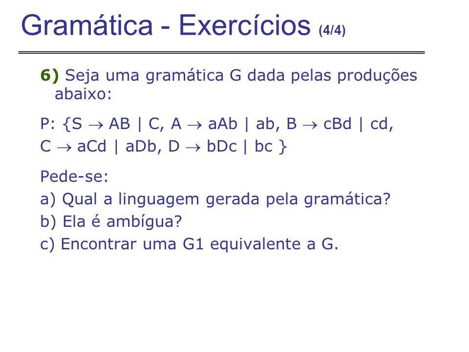 Gramática - Exercícios (4/4)