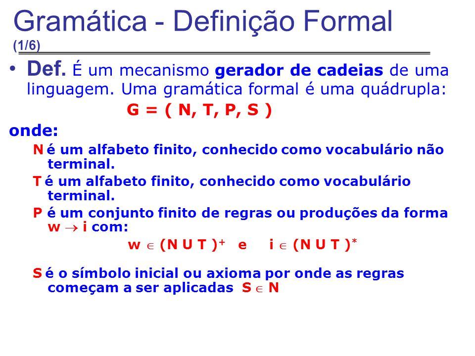 Gramática - Definição Formal (1/6)