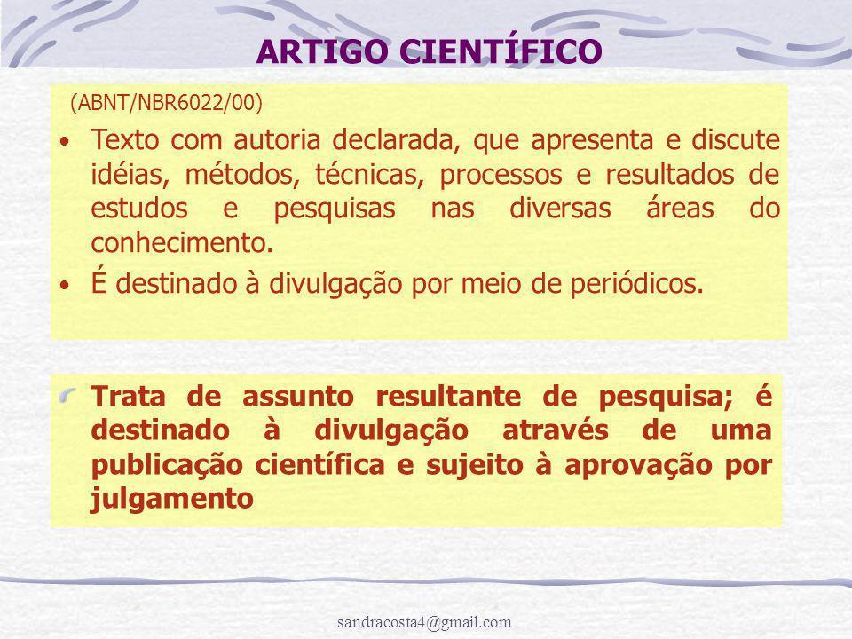 ARTIGO CIENTÍFICO (ABNT/NBR6022/00)