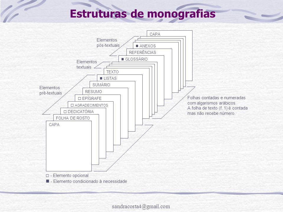 Estruturas de monografias