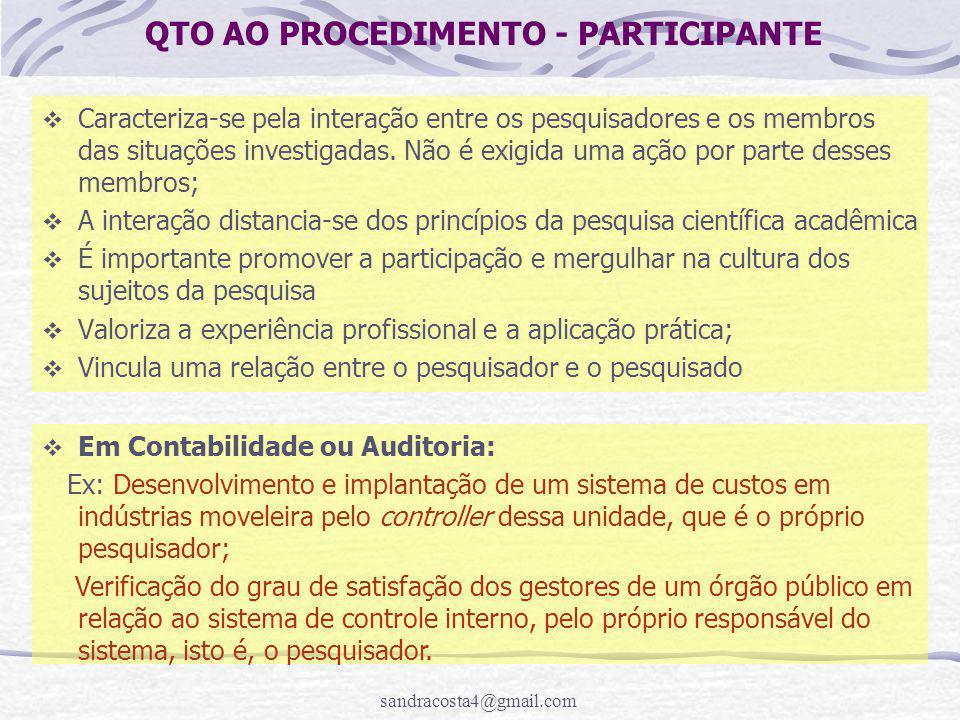 QTO AO PROCEDIMENTO - PARTICIPANTE