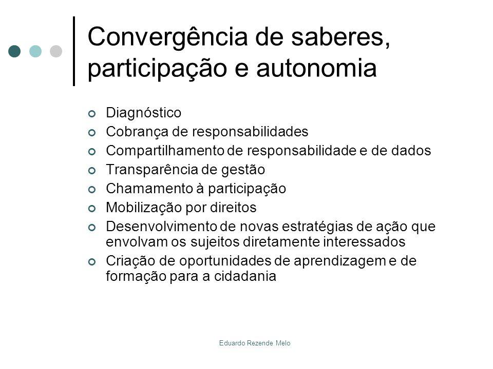 Convergência de saberes, participação e autonomia