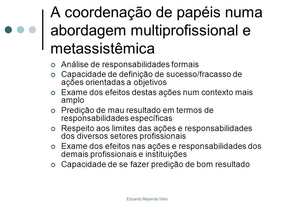 A coordenação de papéis numa abordagem multiprofissional e metassistêmica